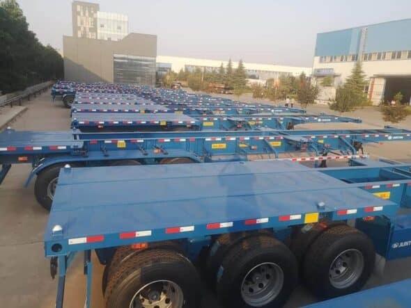 sơ mi rơ mooc xe container 40-45 feet thép t1700
