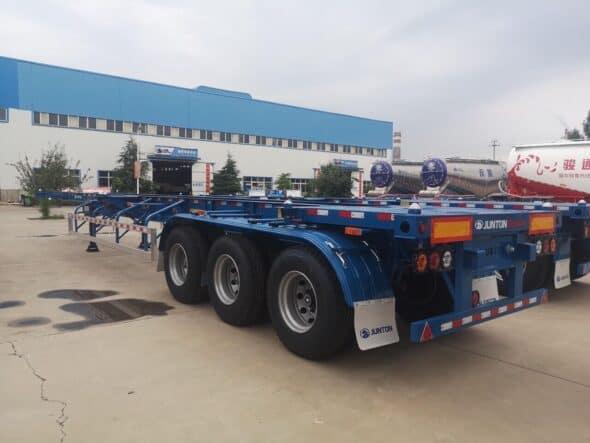 Thép hợp kim sản xuất sơ mi rơ mooc container Junton 40-45 feet
