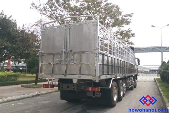 Kích thước thùng xe tải thùng 4 chân